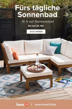 save Save now off our garden furniture darlings :) You can double, because the discount applies to already discounted items. Your discount code: Garden Furniture, Outdoor Furniture Sets, Balkon Design, Outdoor Sofa, Outdoor Decor, Relaxation Room, Living Room Accents, Western Homes, Diy Home Decor