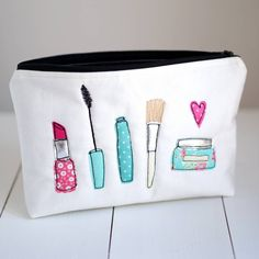 Embroidered Cosmetic Bag | Canvas. Zoom · Click to Enlarge ...