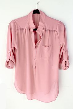 Silky Dust Rose Misha Shirt Emma Stine Limited