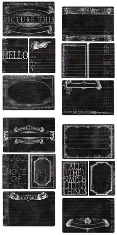 Vintage chalkboard meets your art studio with these ready-to-alter, new paper notecard sets.