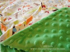 I have 3 yards of minky left and I am definately trying this method, looks way easier.  minky tutorial