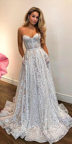36 Totally Unique Fashion Forward Wedding Dresses ❤ fashion forward wedding dresses lace a line strapless sweetheart neck modern berta ❤ See more: http://www.weddingforward.com/fashion-forward-wedding-dresses/ #weddingforward #wedding #bride
