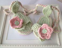 CROCHET PATTERNcrochet baby sandals crochet by elifinedesigns