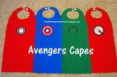 Sunshine and a Summer Breeze: Avengers Super Hero Capes