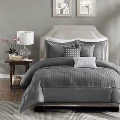 Tuxedo Woven Stripe 100-percent Pima Cotton 3-piece Duvet Cover Set | Overstock.com Shopping - The Best Deals on Duvet Covers