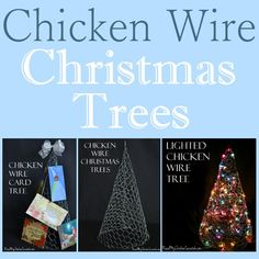 Simple Life, Simple Food... and Chickens -- Find simple old fashioned recipes, how to raise chickens, and more. Chicken Wire Christmas Trees