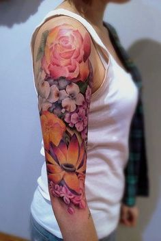 Wonderful Rose Tattoo On Arm, New Flower Tattoos October 2016