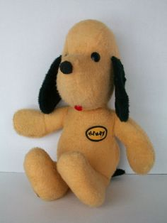 Meet my second childhood 'friend' -- Henry- the first is Doggie (pronounced Dodgie). Both are nestled on the top shelf of my closet. He's still one of my most valued possessions!