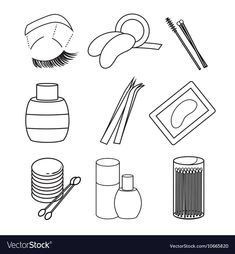Hygiene icons lash extentions signs vector image on VectorStock