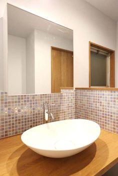 洗面台、壁タイル、DIY、オリジナル、空間工房、KULABO