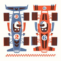 Race cars by Esther Aarts