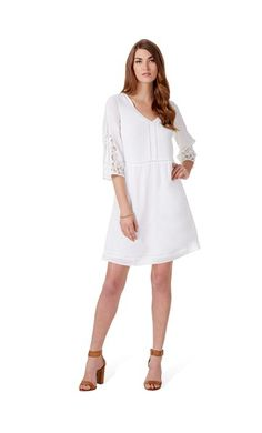 9000789836cb Table Eight Chloe 3 4 Sleeve Lace Insert Dress