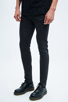 Cheap Monday Tight Jeans in Charcoal Wash - Urban Outfitters dr Martens Shoes Style men