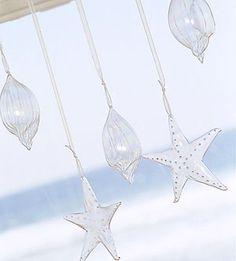 Hanging glass shells