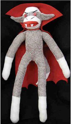Vampire sock monkey