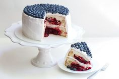 For July 4th, bake a cake … with two pies inside it...best of both worlds.
