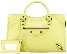 Balenciaga Classic City Bag, Citron.  Embrace that Goddess within by visiting this link to grab yourself one of these gorgeous beauties!