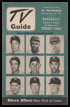 Not surprising, the cover of TV Guide's season-opening issue was just a little New York-centric. The season would see the first color telecast of a major league game, from Ebbets Field on Aug. 11.