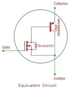 icu ~ IGBT Transistor Equivalent circuit in 2019 Electronic Circuit Design, Electronic Kits, Electronic Engineering, Electrical Engineering, Dc Circuit, Circuit Diagram, Electronics Components, Electronics Projects, Electrical Projects