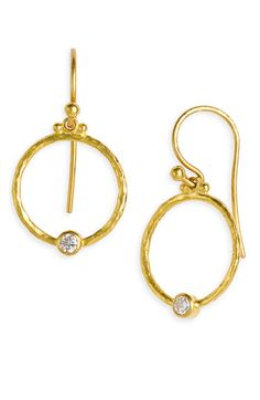 Gurhan 'Clover' Diamond Accent Hoop Earrings available at Nordstrom