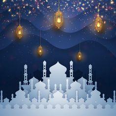 Ramadan kareem background with combination crescent moon and arabic calligraphy. Islamic Wallpaper Hd, Wallpaper Wa, Iphone Background Wallpaper, Vector Background, Ramadan Crafts, Ramadan Decorations, Wallpaper Ramadhan, Eid Mubarak Wallpaper, Motif Arabesque