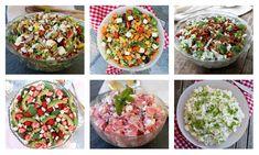 Heisann! Det er søndag og vanligvis ville eg ha delt ny vekemeny på bloggen idag – men istedenfor så velger eg å ha eit temainnlegg med fokus på digge salater som passer perfekt til grillmaten. Vi er midt i juli sommarmåned med ferie for dei fleste – så derfor tenker eg at eit slikt innlegg … A Food, Food And Drink, Party Finger Foods, Tzatziki, Acai Bowl, Salsa, Bacon, Grilling, Breakfast