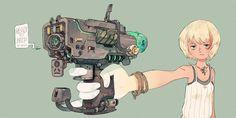 科学少女电浆枪-biboX__涂鸦王国插画