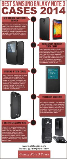 Best Samsung Galaxy Note 3 Cases - infographic