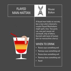 "House Bolton: | 6 Perfect Cocktails To Enjoy During Tonight's ""Game Of Thrones"" Finale"