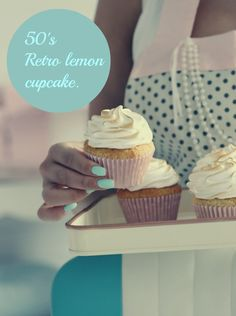 50′s retro sunshine Lemon Cupcakes | passion 4 baking