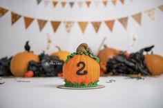 Hallowen Cake Smash   Pumpkin   Orange   Black   Boy cake smash ideas   Cake…