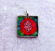 Pomegranate Mosaic Pewter Pendant | Flickr - Photo Sharing!