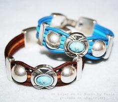 Pulsera con la NUEVA pieza escarabajo con turquesa Si quieres saber que materiales utilicé entra en nuestro blog: http://unlugarenelmundobypaula.blogspot.com/  www.unlugarenelmundobypaula.com