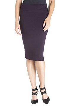 Women's Night Out Skirts - Rekucci Womens Ease In To Comfort PDR Pencil Skirt With Slit * Check this awesome product by going to the link at the image.