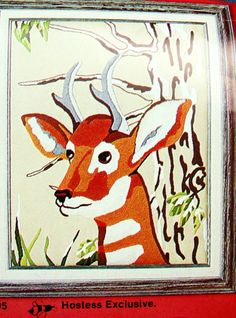 "VTG Artcraft Concepts ""Pronghorn"" Crewel Kit, Rare Hostess Exclusive, 16"" x 20"" by dazzledbyvintage on Etsy"