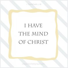 i have the mind of christ - Google Search