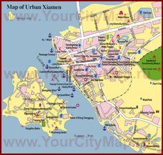 Туристическая карта Сямыня с достопримечательностями