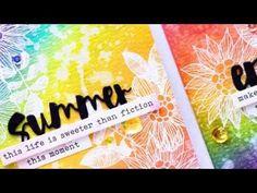 Simon Says Stamp | Distress Ink Rainbow Background & The Rainbow Card Challenge. Video | | Yana Smakula. My Cardmaking & Scrapbooking