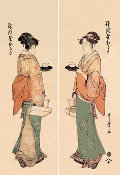 Tea House Girl, by Utamaro