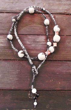 Lateliè-lcf: cloth necklaces, copper and stones