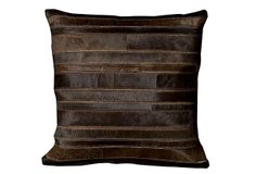 Leather and Hide 20x20 Pillow, Sable on OneKingsLane.com