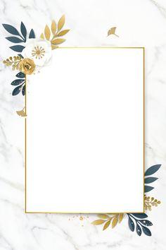Framed Wallpaper, Flower Background Wallpaper, Flower Backgrounds, Background Patterns, Wallpaper Backgrounds, Frame Background, Bild Gold, Invitation Background, Ideias Diy
