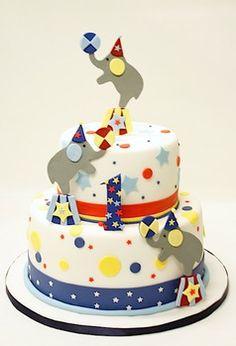 Circus Cake! 1st Birthday cake! Beautiful cake by Lulu Scarsdale www.everythinglulu.com