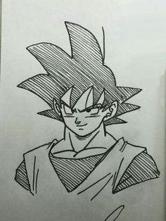 Anime Drawings Sketches, Marvel Drawings, Anime Sketch, Cartoon Drawings, Goku Drawing, Ball Drawing, Manga Girl, Anime Girls, Goku Manga