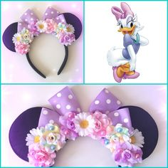 Disney Diy, Diy Disney Ears, Disney Bows, Disney Crafts, Disney Ears Headband, Disney Headbands, Ear Headbands, Mickey Mouse Headband, Disney Minnie Mouse Ears