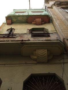 Art deco apartments in old Havana Cuba