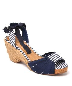 Take a look at this Navy Cerise Espadrille by Envy on #zulily today!