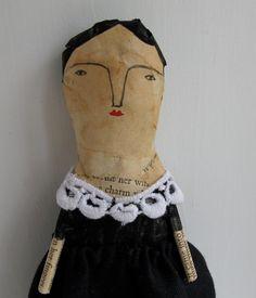 mixed media folk art doll