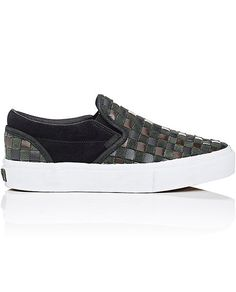 VANS MEN'S BNY SOLE SERIES: WOVEN LEATHER & SUEDE SLIP-ON SNEAKERS • Wrapped by JAM