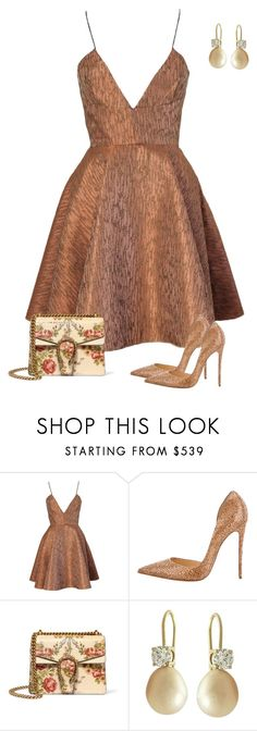 """Untitled #736"" by angela-vitello on Polyvore featuring Joana Almagro, Christian Louboutin and Gucci"